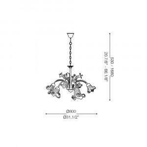 Ideal Lux - Rustic - TIROL SP6 - Lampada a sospensione
