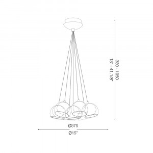 Ideal Lux - Sfera - CIN CIN SP7 - Lampada a sospensione 7 luci