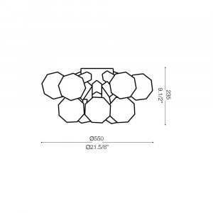 Ideal Lux - Sfera - DEA PL10 - Lampada da parete / plafoniera