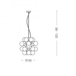 Ideal Lux - Sfera - DEA SP20 - Lampada a sospensione