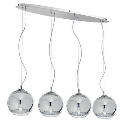 Ideal Lux - Sfera - DISCOVERY SB4 BIG - Lampada a sospensione - Cromo - LS-IL-074955