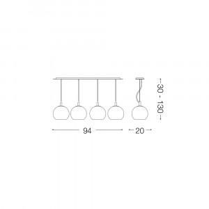 Ideal Lux - Sfera - DISCOVERY SB4 BIG - Lampada a sospensione