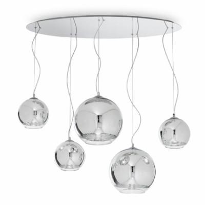 Ideal Lux - Sfera - DISCOVERY SP5 - Lampada cinque luci - Cromo - LS-IL-059655