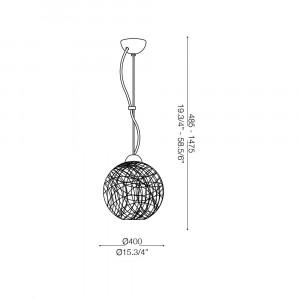 Ideal Lux - Sfera - EMIS SP1 D40 - Lampada a sospensione