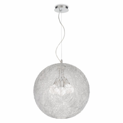 Ideal Lux - Sfera - EMIS SP3 D50 - Lampada a sospensione - Grigio alluminio - LS-IL-026510