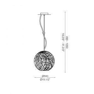 Ideal Lux - Sfera - EMIS SP3 D50 - Lampada a sospensione