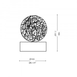 Ideal Lux - Sfera - EMIS TL1 D16 - Lampada da tavolo