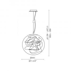 Ideal Lux - Sfera - MAPA MAX SP1 D30 - Lampada a sospensione