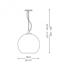 Ideal Lux - Sfera - NEMO SP1 D20 - Lampada a sospensione