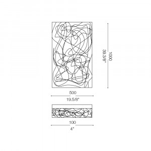 Ideal Lux - Silver - QUADRO PL11 - Plafoniera