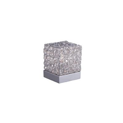Ideal Lux - Silver - QUADRO TL1 - Lampada da tavolo - Grigio alluminio - LS-IL-004686