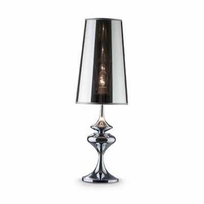 Ideal Lux - Smoke - ALFIERE TL1 BIG - Lampada da comodino - Cromo - LS-IL-032436