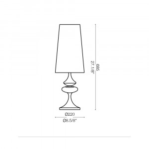 Ideal Lux - Smoke - ALFIERE TL1 BIG - Lampada da comodino
