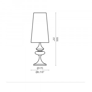 Ideal Lux - Smoke - ALFIERE TL1 SMALL - Lampada da comodino