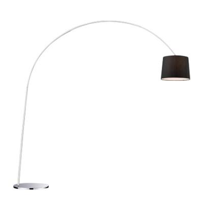 Ideal Lux - Smoke - DORSALE PT1 - Lampada da pavimento - Nero - LS-IL-014371
