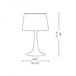 Ideal Lux - Smoke - LONDON TL1 BIG - Lampada da tavolo