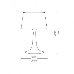 Ideal Lux - Smoke - LONDON TL1 SMALL - Lampada da tavolo