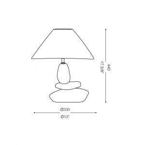 Ideal Lux - Tissue - DOLOMITI TL1 SMALL - Lampada da tavolo