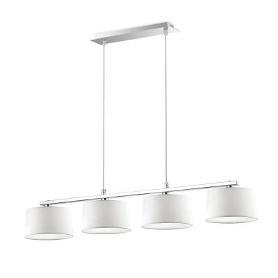 Ideal Lux - Tissue - HILTON SB4 - Lampada a sospensione - Bianco - LS-IL-075495