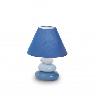 Ideal Lux - Tissue - K2 TL1 - Lampada da comodino - Blu - LS-IL-035031