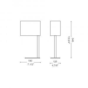 Ideal Lux - Tissue - SHERATON TL1 SMALL - Lampada da tavolo