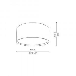 Ideal Lux - Tissue - WHEEL PL3 - Plafoniera
