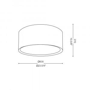 Ideal Lux - Tissue - WHEEL PL5 - Plafoniera