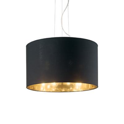 Ideal Lux - Tissue - WHEEL SP3 - Lampada a sospensione - Nero/Oro - LS-IL-158631