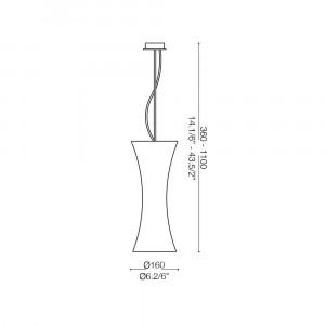 Ideal Lux - Tube - ELICA SP1 SMALL - Lampada a sospensione