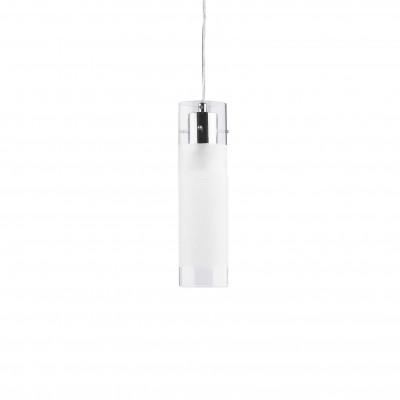Ideal Lux - Tube - FLAM SP1 SMALL - Lampada a sospensione - Cromo - LS-IL-027357