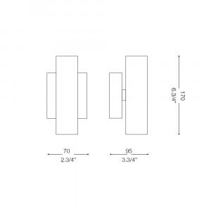 Ideal Lux - Tube - PAUL AP2 - Applique