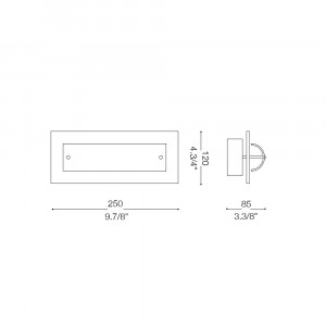 Ideal Lux - Tube - TUDOR AP1 - Applique