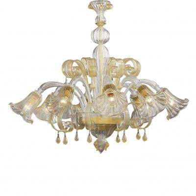 Ideal Lux - Venice - CA' D'ORO SP8 - Lampada a sospensione - Ambra - LS-IL-020976