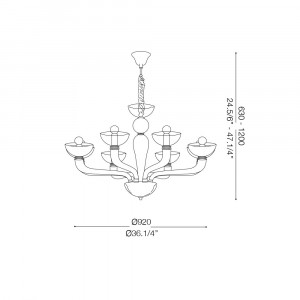 Ideal Lux - Venice - CASANOVA SP8 - Lampada a sospensione