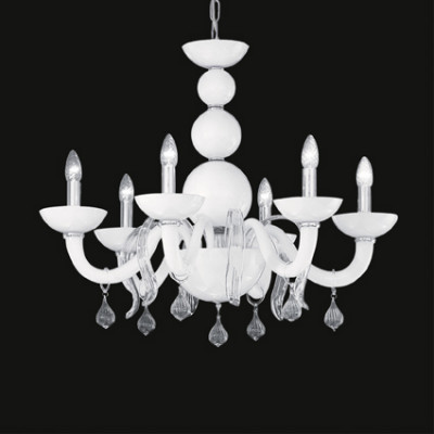 Ideal Lux - Venice - WINDSOR SP6 - Lampada a sospensione - Bianco - LS-IL-022765