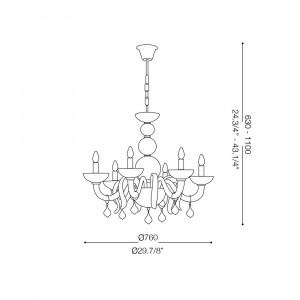 Ideal Lux - Venice - WINDSOR SP6 - Lampada a sospensione
