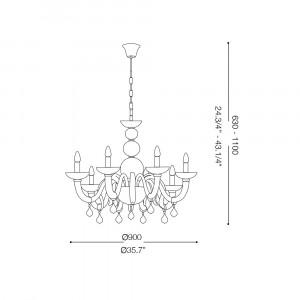 Ideal Lux - Venice - WINDSOR SP8 - Lampada a sospensione