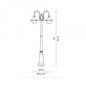 Ideal Lux - Vintage - CIMA PT2 - Lampione