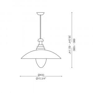 Ideal Lux - Vintage - FIORDI SP1 BIG - Lampada a sospensione