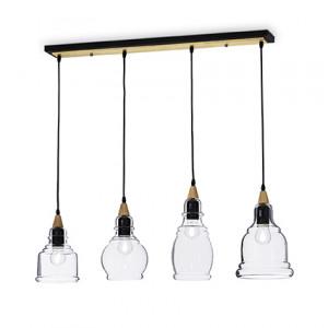 Ideal Lux - Vintage - Gretel SP4 - Lampada a sospensione a barra