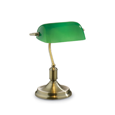 Ideal Lux - Vintage - LAWYER TL1 - Lampada da ufficio - Brunito - LS-IL-045030