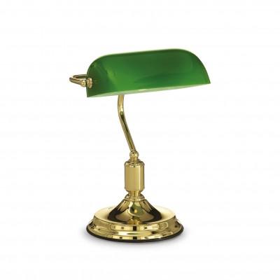 Ideal Lux - Vintage - LAWYER TL1 - Lampada da ufficio - Ottone - LS-IL-013657