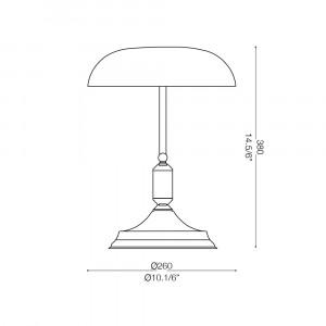 Ideal Lux - Vintage - LAWYER TL1 - Lampada da ufficio