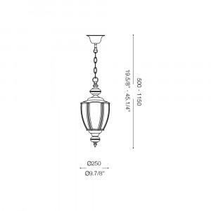 Ideal Lux - Vintage - NORMA SP1 BIG - Lampada a sospensione