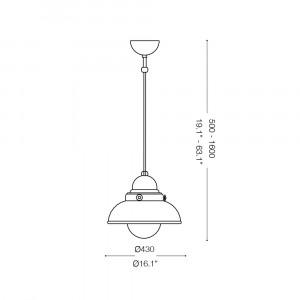 Ideal Lux - Vintage - SAILOR SP1 D43 - Lampada a sospensione
