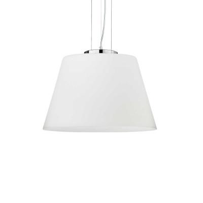 Ideal Lux - White - CYLINDER SP1 D40 - Lampada a sospensione - Bianco - LS-IL-025438