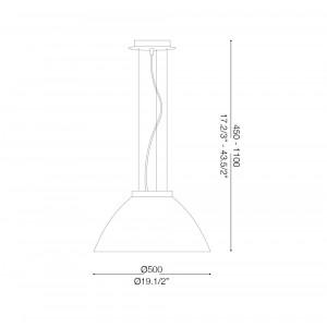 Ideal Lux - White - ETNA SP1 D50 - Lampada a sospensione