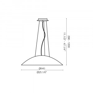 Ideal Lux - White - LENA SP3 D64 - Lampada a sospensione