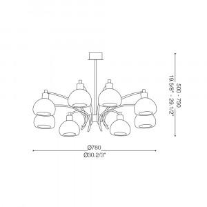 Ideal Lux - White - TOKYO SP8 - Lampada a sospensione