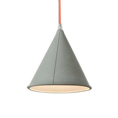 In-es.artdesign - Be.pop - Pop 2 SP - Lampadario moderno colorato - Grigio/Arancio - LS-IN-ES022GR-AF